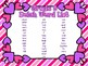 Valentine's Day Grade 3 Dolch Sight Word Flashcards