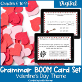 Valentine's Day Grammar BOOM Cards for Digital Learning an