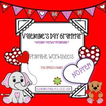 Valentine's Day Grammar (Nouns, verbs, pronouns)
