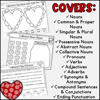 valentine 39 s day grammar activities by the tulip teacher tpt. Black Bedroom Furniture Sets. Home Design Ideas