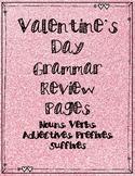 Valentine's Day Grammar Review Packet