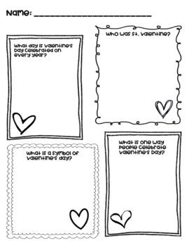 Valentine's Day Graphic Organizer - FREEBIE