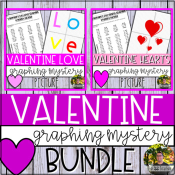 Valentine's Day Graphing Mystery Picture BUNDLE
