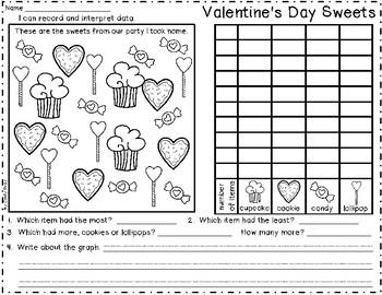 Valentine's Day Graphing ~ Record and Interpret Data