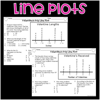 Valentine's Day Graphs {Bar Graphs, Pictographs, Line Plots}