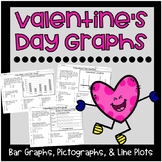 Valentine's Day Graphs {Bar Graphs, Pictographs, Line Plots}