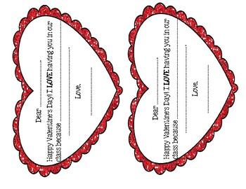 Valentine's Day Gratitude Cards - Bilingual
