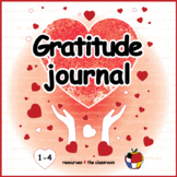 Gratitude Journal - Writing Prompts and art activity or craft