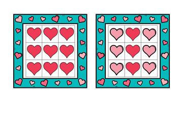 Valentine's Day Grid Patterns Visual Perceptual tasks for preschool