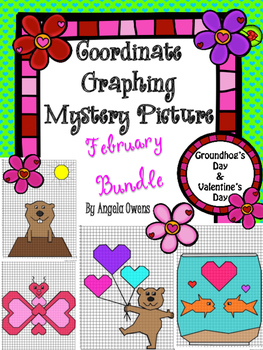 Valentine's Day/Groundhog's Day Coordinate Graph Bundle
