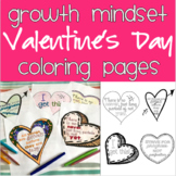 Valentine's Day Growth Mindset Coloring Pages