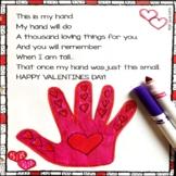 Valentine's Day Handprint - Keepsake Poem for Kids