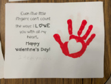 Valentine's Day Handprint Poem