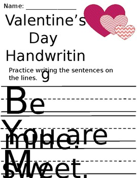 Valentine's Day Handwriting