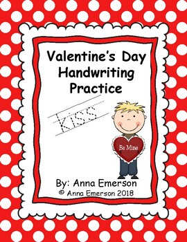 Valentine's Day Handwriting Practice A-Z
