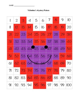Valentine's Day Happy Heart Mystery Picture- Mixed Operations