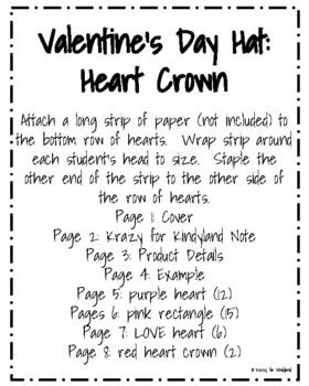 Valentine's Day Craft: Heart Crown
