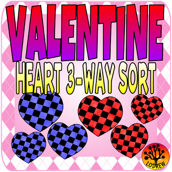 Valentine's Day Centers Valentine Activities Heart Visual Discrimination Sorting