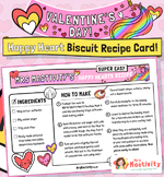 Valentine's Day Heart Biscuit Recipe Card