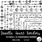 Valentine's Day Heart Page Borders and Frames Clip Art