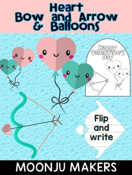 Valentine's Day Heart Bow  Arrow and Balloons - Moonju Makers, Activity, Writing