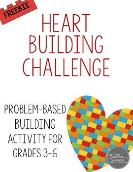 Valentine's Day: Heart Building STEM Challenge FREEBIE