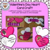 Valentine's Day Heart Card Craft Activity