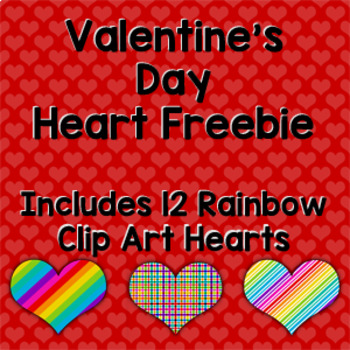 Valentine's Day Heart Clip Art Freebie