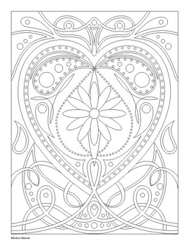 Valentine's Day Heart Coloring Activity