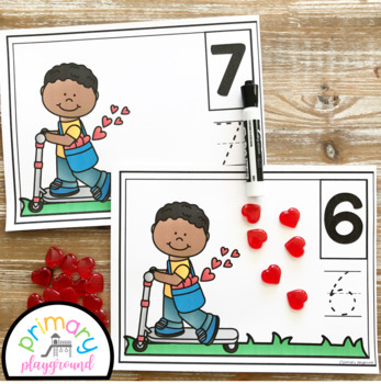 Valentine's Day Heart Counting Mats 1 - 20