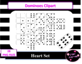 Valentine's Day Heart Dominoes Clipart