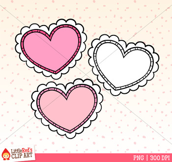 Valentine's Day Heart Faces Clip Art