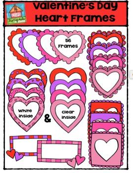 Valentine's Day Heart Frames {P4 Clips Trioriginals Digital Clip Art}