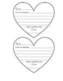 Valentine's Day Heart Letter