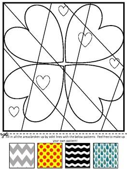 Valentine's Day Heart Line Art - NO PREP