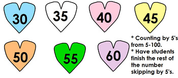 Valentine's Day Heart Number Skipping for Preschool