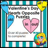 Valentine's Day Heart Opposite Puzzles for Preschool