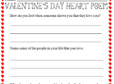 Computer Class - Valentine's Day Heart Poem