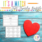 Heart Shaped Multiplication and Division Fact Family Puzzles