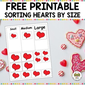 Valentine's Day Heart Sorting Activty for Pre-K, Preschool and Tots