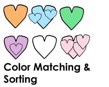 Valentine's Day Heart Sorting & Matching Activities