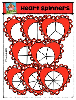 Valentine's Day Heart Spinners {P4 Clips Trioriginals Digital Clip Art}