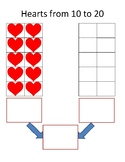Valentine's Day Heart Teen Number Bonds