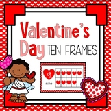 Valentine's Day Heart Ten Frames #'s 1 - 20 - Half Page * Complete / Blank Sets