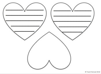 Valentine's Day Heart Writing Paper Bundle