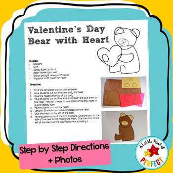 Valentine's Bear Craft with Heart