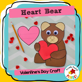 Valentine's Bear Craft with Heart