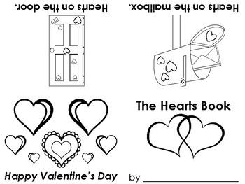 Valentine's Day Heart early reader book