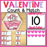 Valentine's Day Hearts 0-20 Count & Match | Number Writing