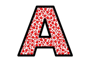 Valentine's Day, Hearts, Bulletin Board Letters, Printable Posters Decor